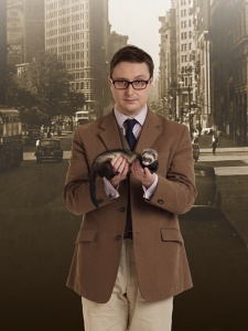 John Hodgman and a ferret